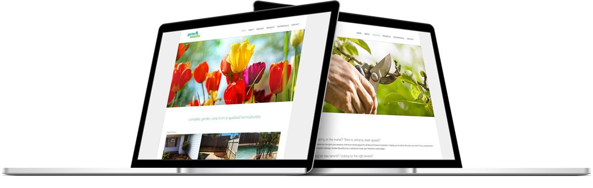 Webpage design for Garden Beautiful in Newcastle