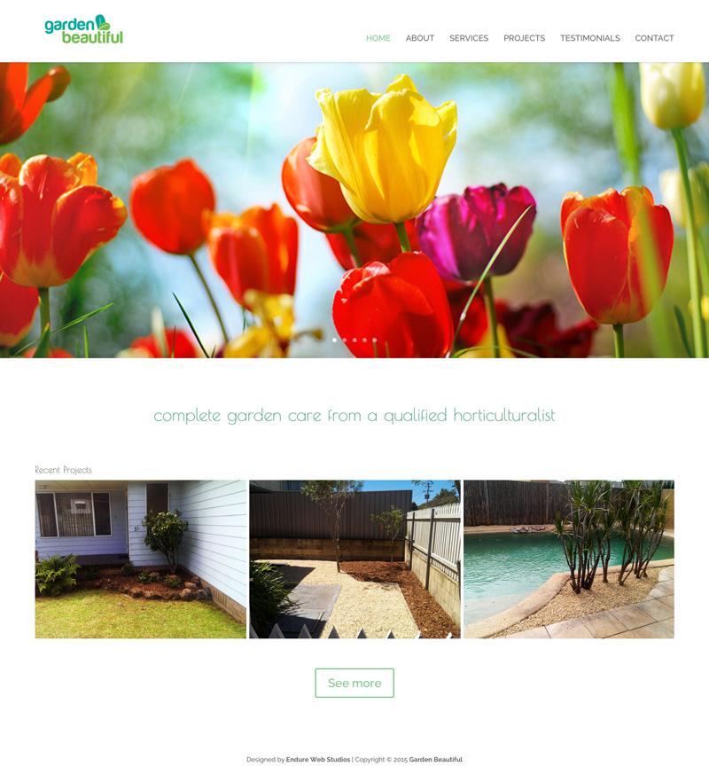New website for Garden Beautiful in Newcastle