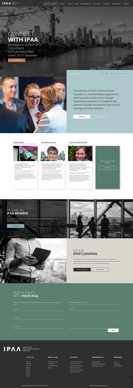 IPAA website homepage